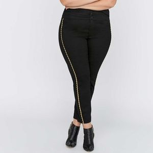 Love & Legend | Slim Ankle Pant with Gold Stripe
